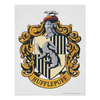 Hufflepuff Crest Poster
