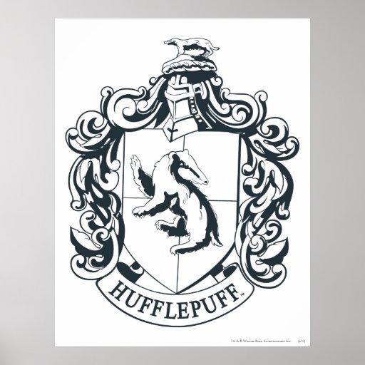 Hufflepuff Crest Print   Zazzle