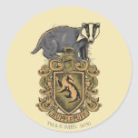 HUFFLEPUFF™ Crest Round Sticker