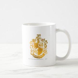 Hufflepuff Crest - Splattered Basic White Mug