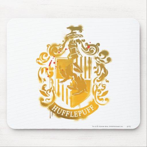 Hufflepuff Crest - Splattered Mousepads