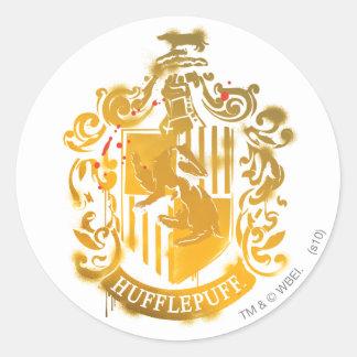Hufflepuff Crest - Splattered Stickers
