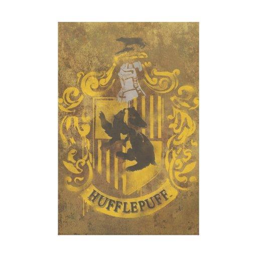 Hufflepuff House Crest Canvas Prints