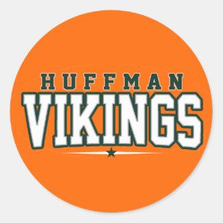 Huffman High School; Vikings Round Sticker