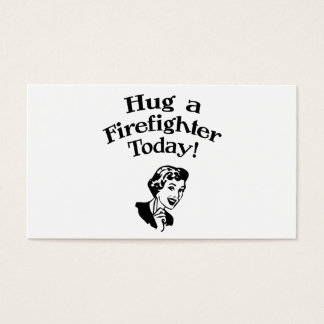 Hug A Firefighter Business Card