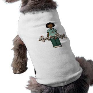 Hug a Friendly Smiling Nurse Sleeveless Dog Shirt