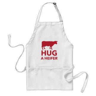 Hug a Heifer Funny Dairy Farm Standard Apron