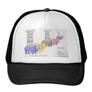 Hug a Hippo Mesh Hats