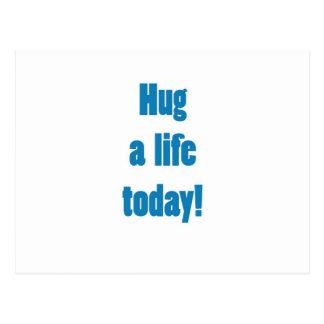 Hug a Life Postcard