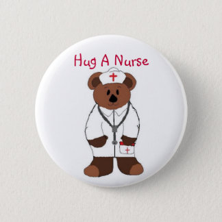 Hug A Nurse 6 Cm Round Badge