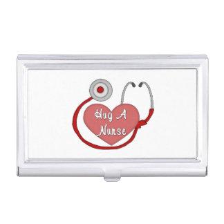 Hug A Nurse Business Card Holder
