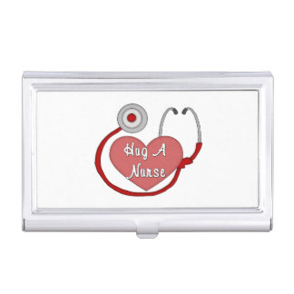 Hug A Nurse Case For Business Cards