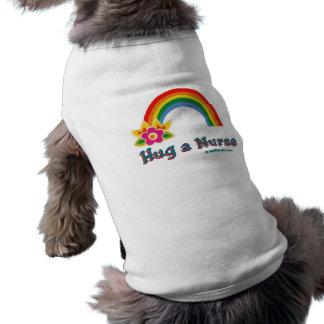 Hug a Nurse Rainbow Pet T-shirt