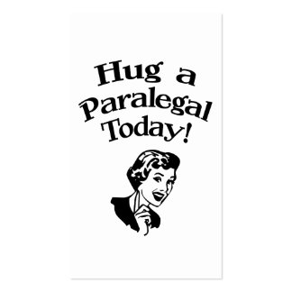 Hug A Paralegal Pack Of Standard Business Cards