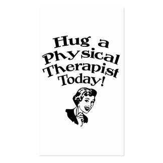 Hug A Physical Therapist Business Card Templates