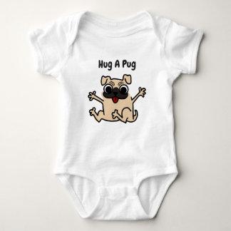 Hug A Pug  Dog Baby Bodysuit