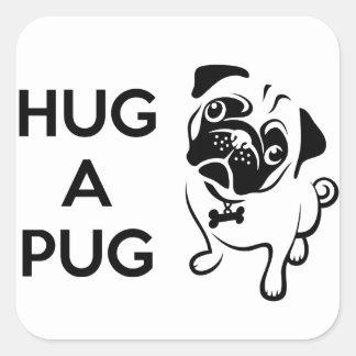Hug a Pug Square Stickers