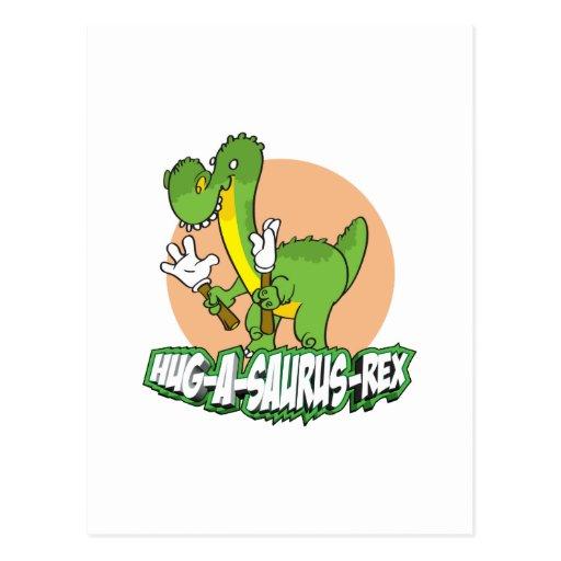 Hug-a-saurus Rex Postcard