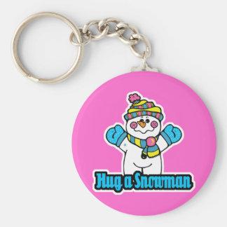 hug a snowman key chain