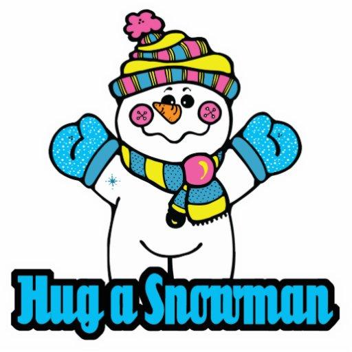 hug a snowman photo sculpture