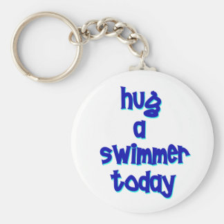 Hug A Swimmer Today Key Chain