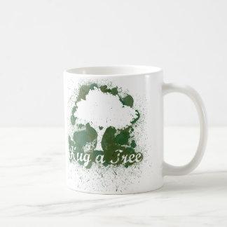 Hug a Tree Think Green Coffee Mugs