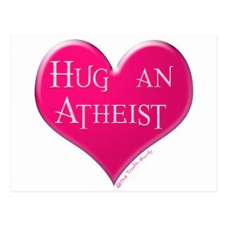 Hug An Atheist Postcard