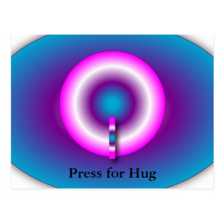 Hug Button Postcard