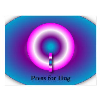 Hug Button Postcard