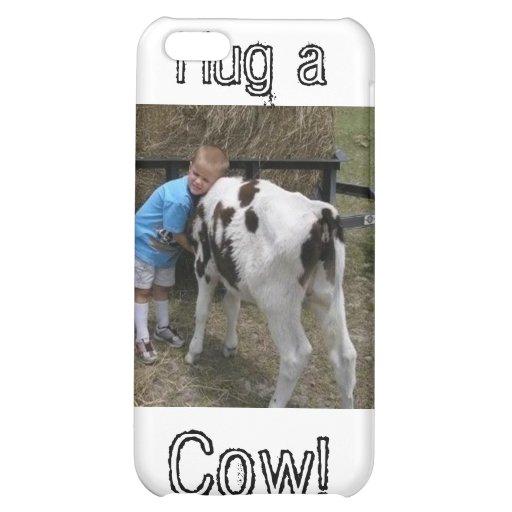 hug cow, Hug a, Cow! iPhone 5C Covers
