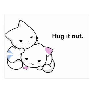 Hug it Out Kittens Post Cards