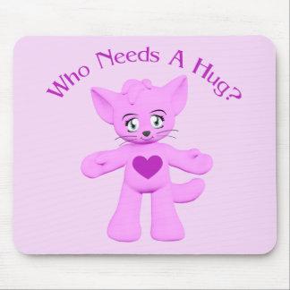 Hug Kitty Cat Toon Mousepad
