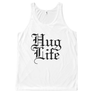 Hug Life Funny Parody All-Over Print Tank Top