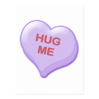 Hug Me Candy Heart Postcard