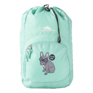 Hug me, cute Lilac Frenchie needs a hug Backpack