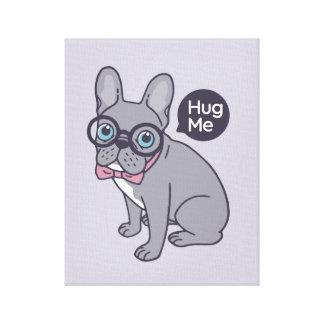 Hug me, cute Lilac Frenchie needs a hug Canvas Print