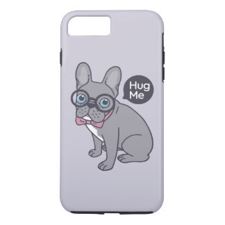 Hug me, cute Lilac Frenchie needs a hug iPhone 8 Plus/7 Plus Case
