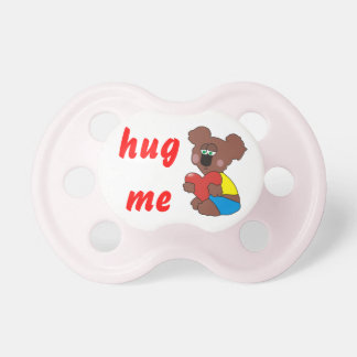Hug Me Cute Teddy Bear Baby Girl Pacifier