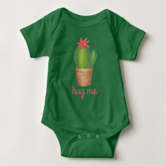 HUG ME Green Prickly Cactus Cacti Funny Plant Baby Bodysuit