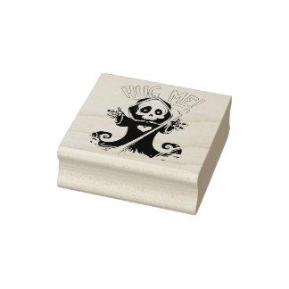 Hug Me Grim Reaper - Halloween Rubber Stamp