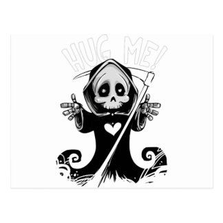 Hug Me Grim Reaper Postcard