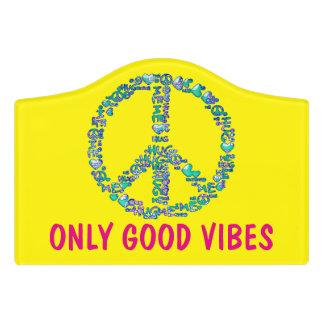 HUG ME PEACE symbol + your backgr. & ideas Door Sign