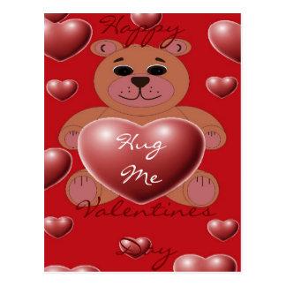 Hug Me Teddy Postcard