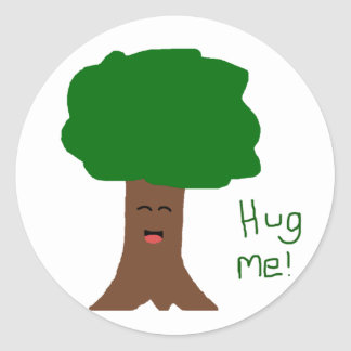Hug Me Tree Sticker