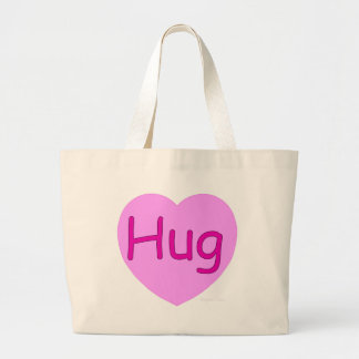 Hug Pink Heart Canvas Bag