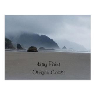 Hug Point Oregon Coast Beach Post Card