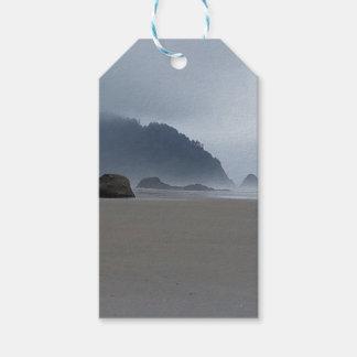 Hug Point Oregon Coast on a Misty Day Gift Tags