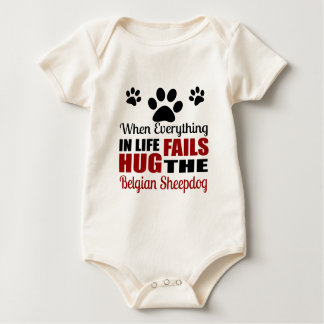 Hug The Belgian Sheepdog Dog Baby Bodysuit