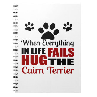 Hug The Cairn Terrier Dog Spiral Note Book