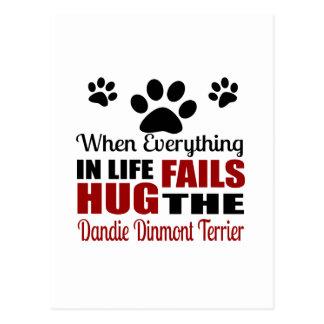 Hug The Dandie Dinmont Terrier Dog Postcard